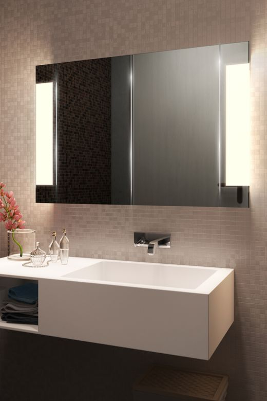 Halo Two Door LED Bathroom Demister Cabinet