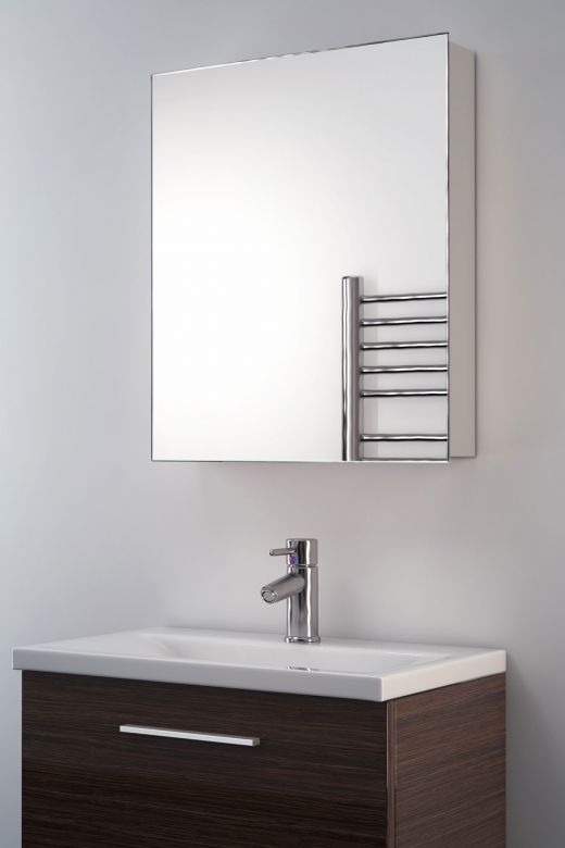 Iris mirrored bathroom cabinet