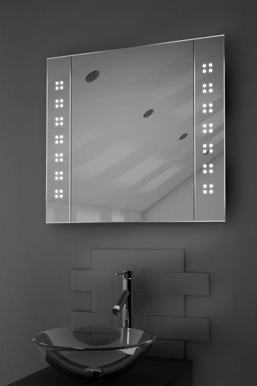 Amaze LED bathroom cabinet with Bluetooth audio