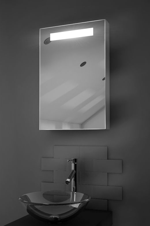 Olympia LED bathroom cabinet with Bluetooth audio