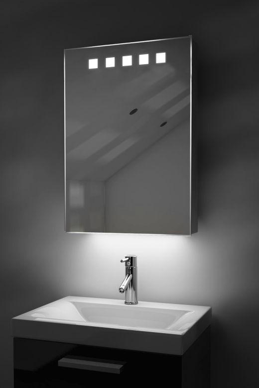 Deva LED bathroom cabinet with ambient under lighting
