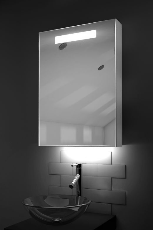 Alannah LED bathroom cabinet with ambient under lighting