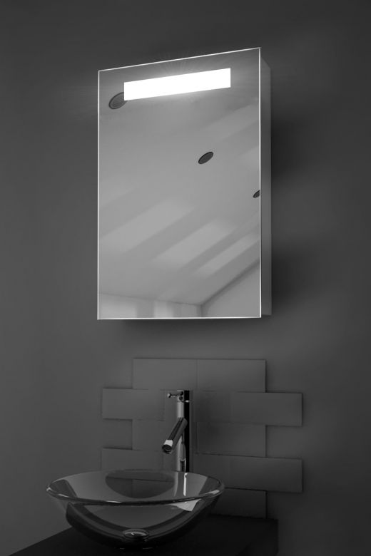 Olympia demister bathroom cabinet with Bluetooth audio