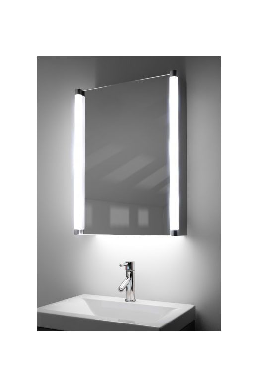 Bakari demister bathroom cabinet with colour change under lighting