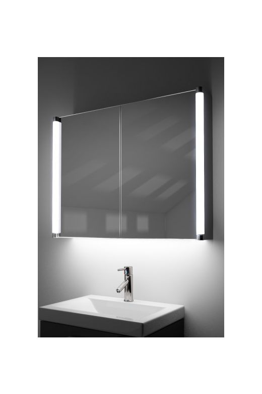 Dabir demister bathroom cabinet with colour change under lighting