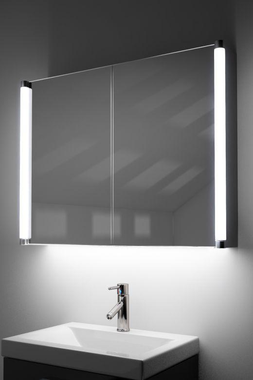 Dabir demist cabinet with colour change underlights & Bluetooth audio