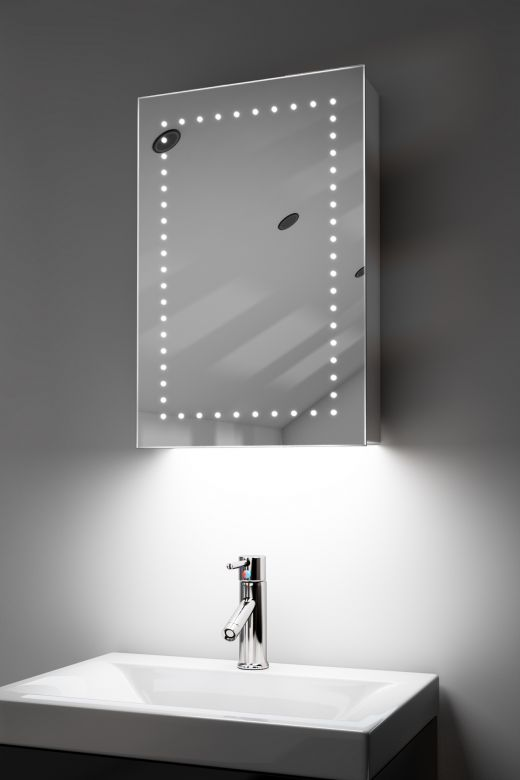 Elora demister bathroom cabinet with ambient under lighting