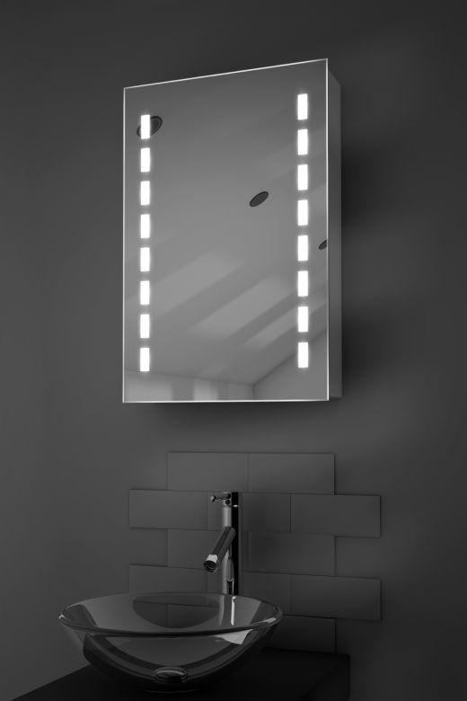 Delphia demister bathroom cabinet with Bluetooth audio