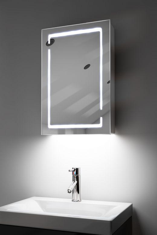 Filia demister bathroom cabinet with Bluetooth audio & ambient under lighting