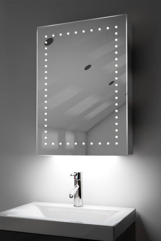 Lana demister bathroom cabinet with colour change under lighting