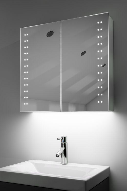 Odelle demist cabinet with colour change underlights & Bluetooth audio