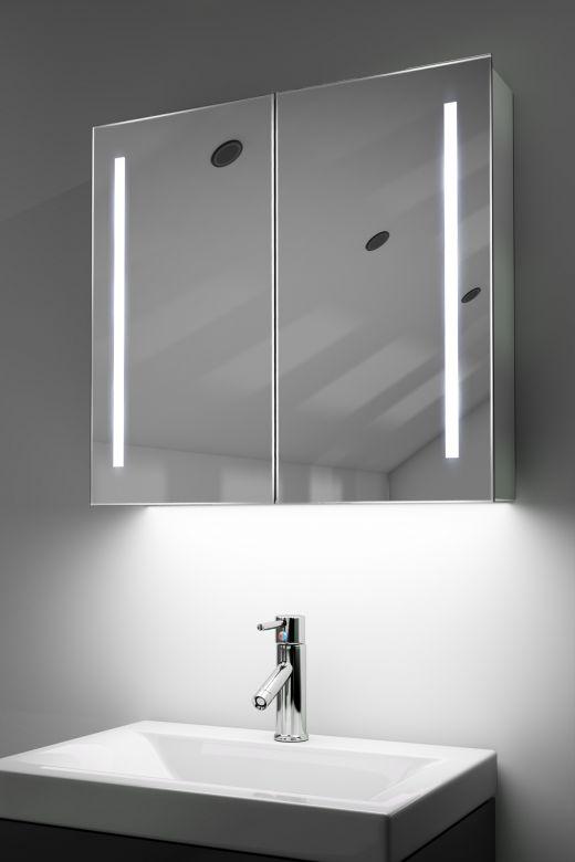 Rhea demist cabinet with colour change under lights & Bluetooth audio