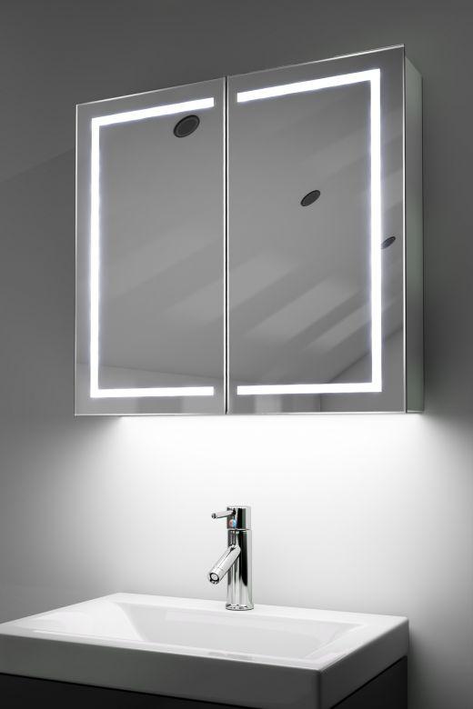 Talia demist cabinet with colour change underlights & Bluetooth audio
