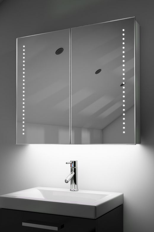 Vasos demister bathroom cabinet with ambient under lighting