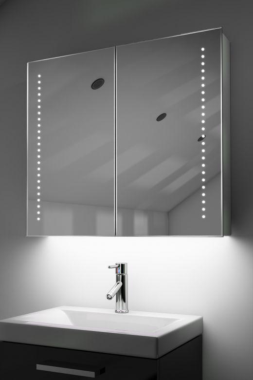 Vasos demister bathroom cabinet with Bluetooth audio & ambient under lights