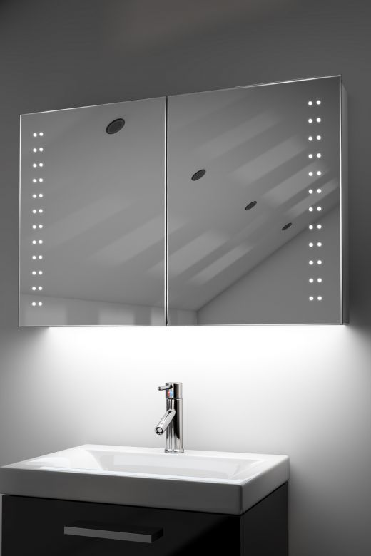 Galan demister bathroom cabinet with ambient under lighting