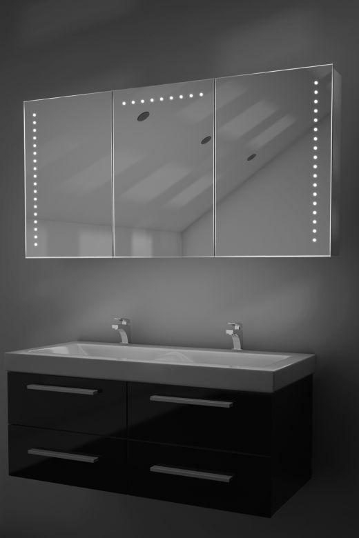 Malva demister bathroom cabinet with Bluetooth audio