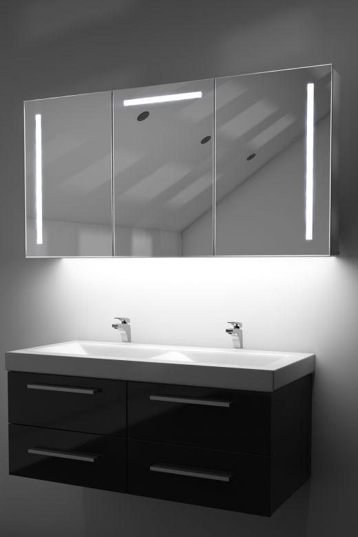 Cali demist cabinet with colour change underlights & Bluetooth audio