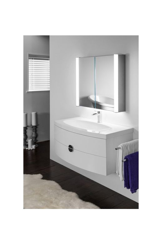 Aura 400 LED bathroom cabinet with colour change under lighting