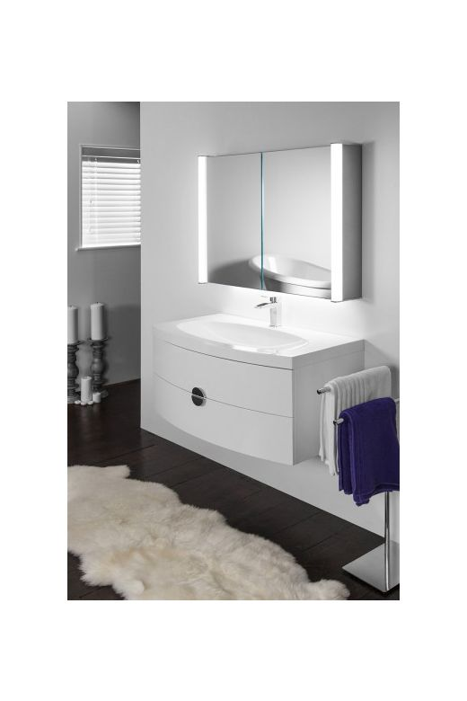 Aura 401 LED bathroom cabinet with colour change under lighting