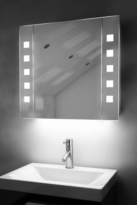 Noble demister bathroom cabinet with colour change under lighting