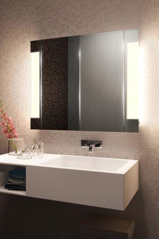 Halo Two Door LED Bathroom Demister Cabinet