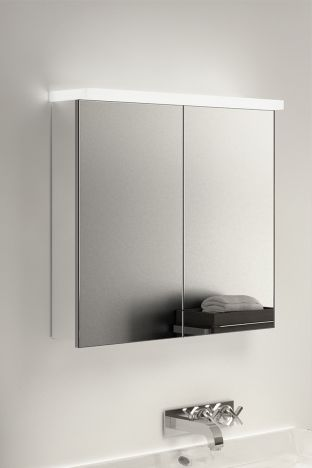 Gamma LED Light Plate Cabinet with ambient under lighting