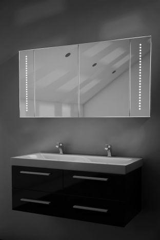 Pali demister bathroom cabinet with Bluetooth audio
