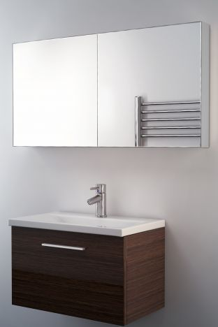 Neptune mirrored bathroom cabinet
