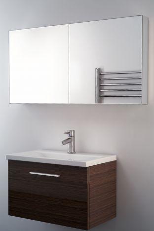 Neptune mirrored bathroom cabinet