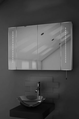 Hatha LED bathroom cabinet with battery power