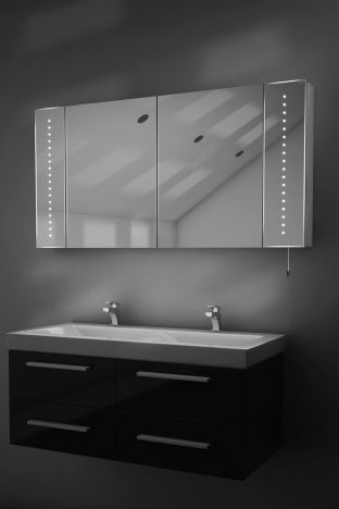 Karma LED bathroom cabinet with battery power