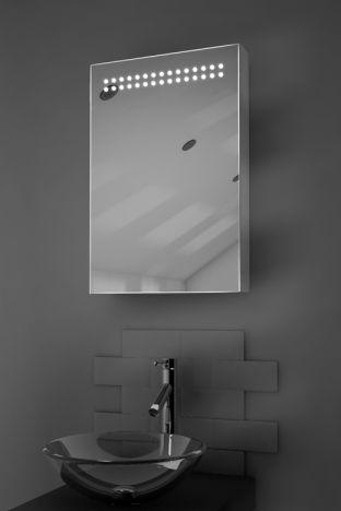 Jewel demister bathroom cabinet with Bluetooth audio