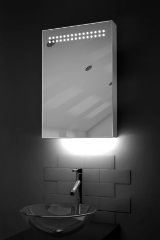 Jewel LED bathroom cabinet with ambient under lighting