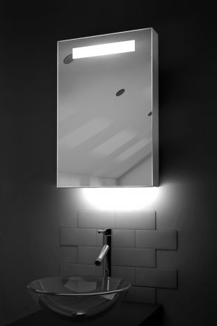Olympia LED bathroom cabinet with RGB under light and Bluetooth audio
