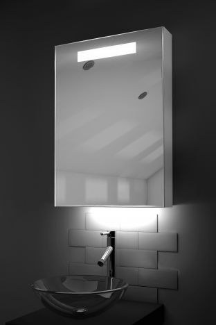 Alannah LED bathroom cabinet with Bluetooth audio & ambient under lights