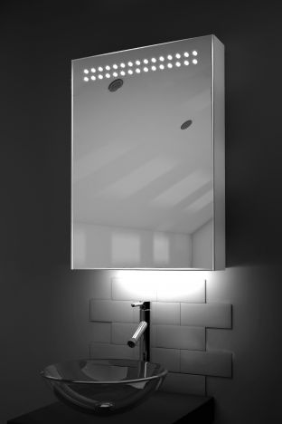 Vania LED bathroom cabinet with ambient under lighting