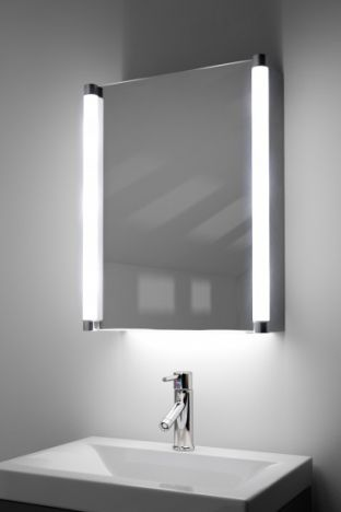 Aziza demister bathroom cabinet with colour change under lighting