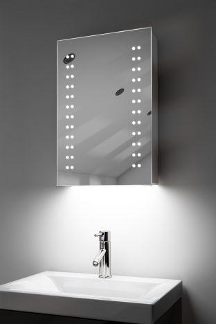 Balta demister bathroom cabinet with colour change under lighting
