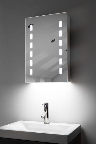 Delphia demister bathroom cabinet with ambient under lighting