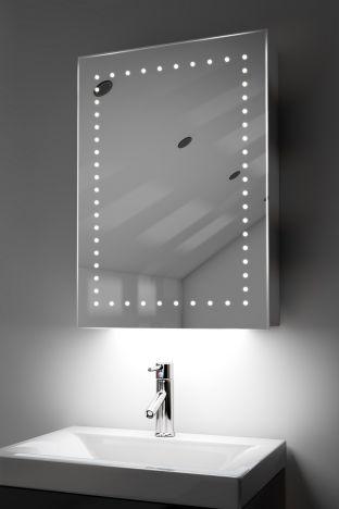 Lana demister bathroom cabinet with ambient under lighting