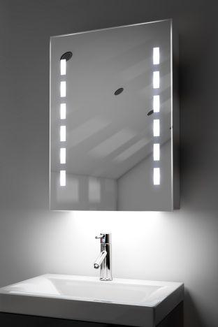 Kara demister bathroom cabinet with ambient under lighting