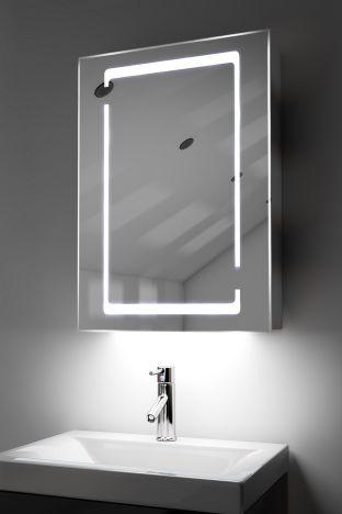 Marilis demister bathroom cabinet with ambient under lighting