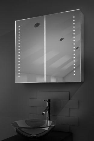 Nellis demister bathroom cabinet with Bluetooth audio