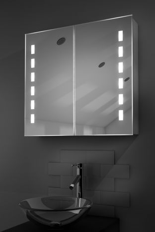 Sacha demister bathroom cabinet with Bluetooth audio