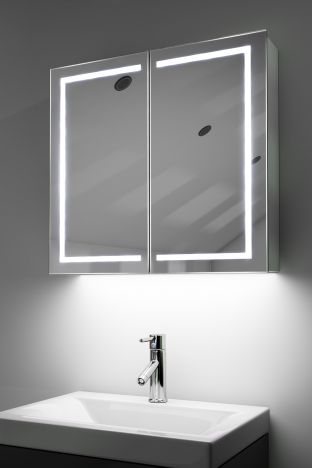 Talia demister bathroom cabinet with ambient under lighting