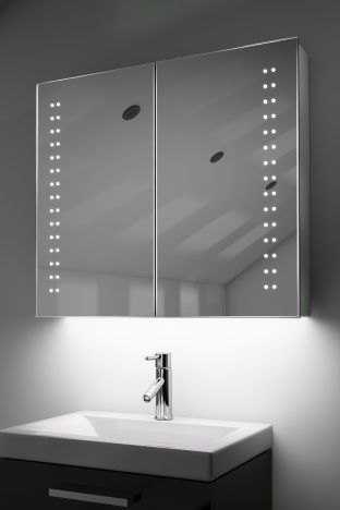 Yalena demister bathroom cabinet with ambient under lighting