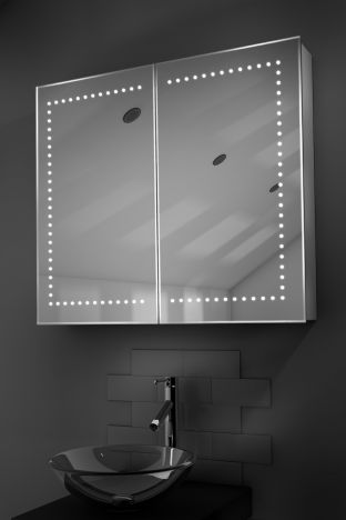Agna demister bathroom cabinet with Bluetooth audio