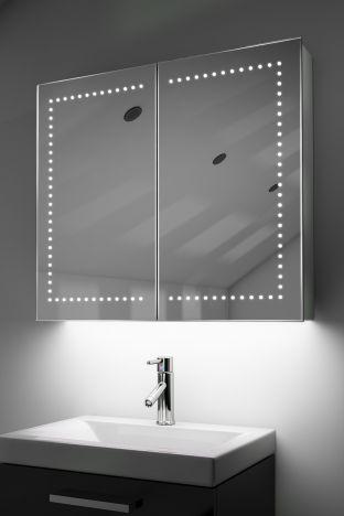 Agna demister bathroom cabinet with colour change under lighting