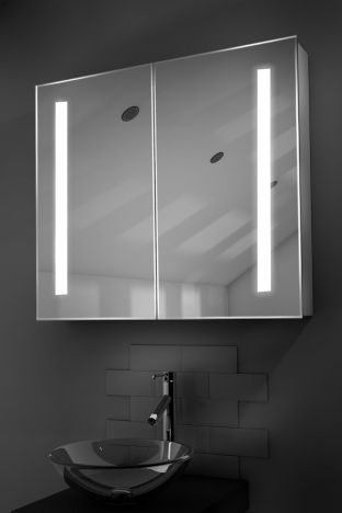 Briony demister bathroom cabinet with Bluetooth audio